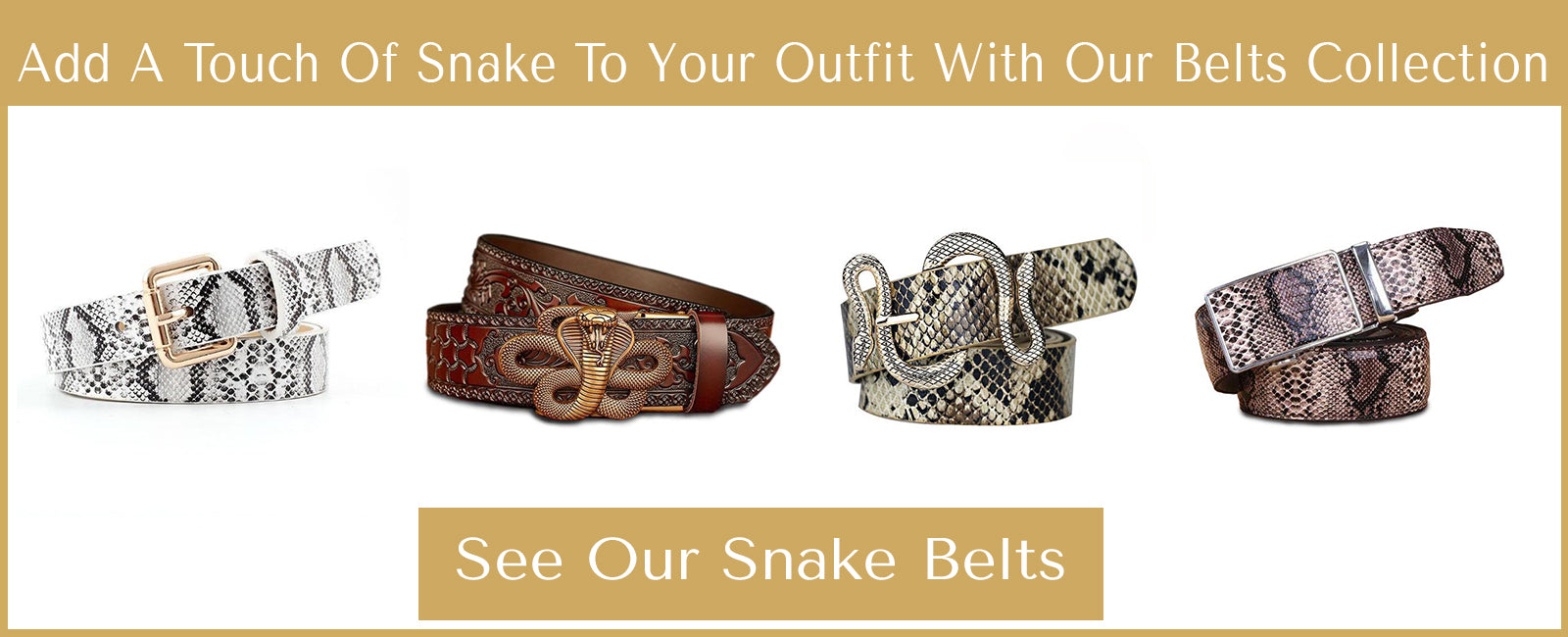 snake belts collection