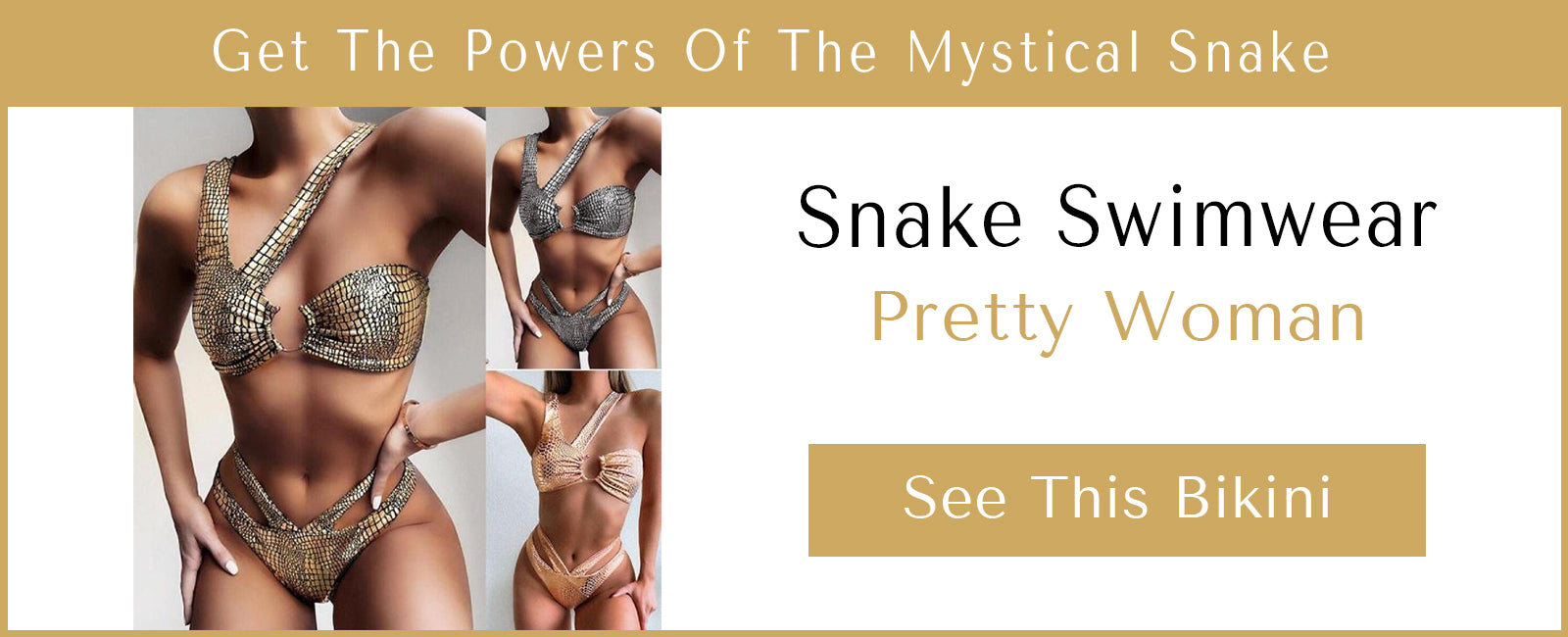 Presentation of one of our snake bikinis