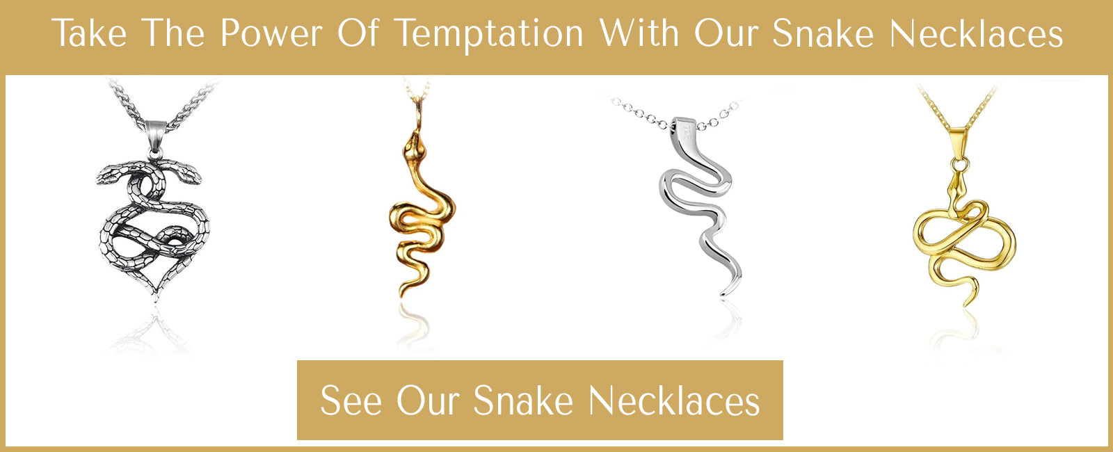 snake necklaces selection
