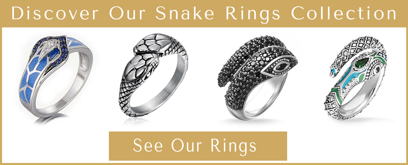Snake Rings Collection Presentation