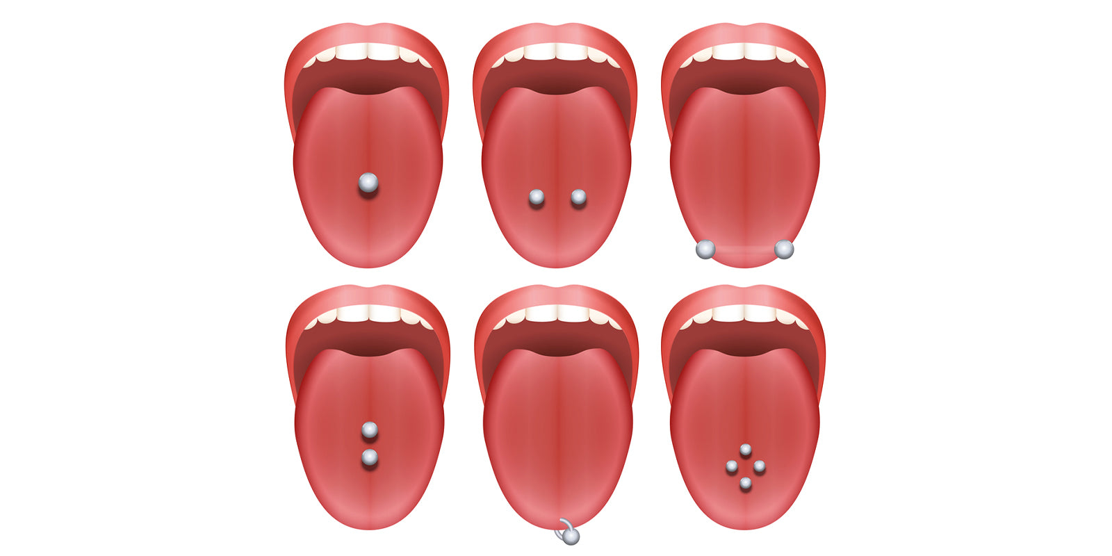 tongue piercing types