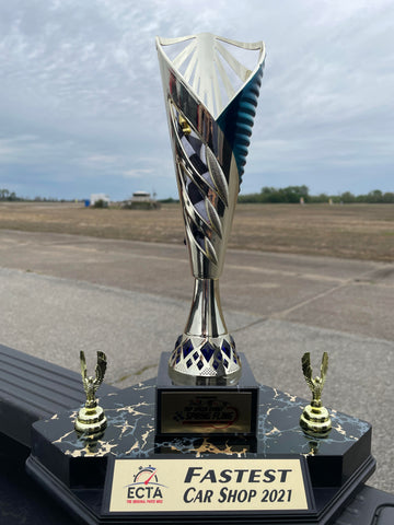 fastest car shop 2021 trophy from the ECTA Mile