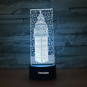 Building Tower 3D Illusion Lamp Night Light 3DL1013