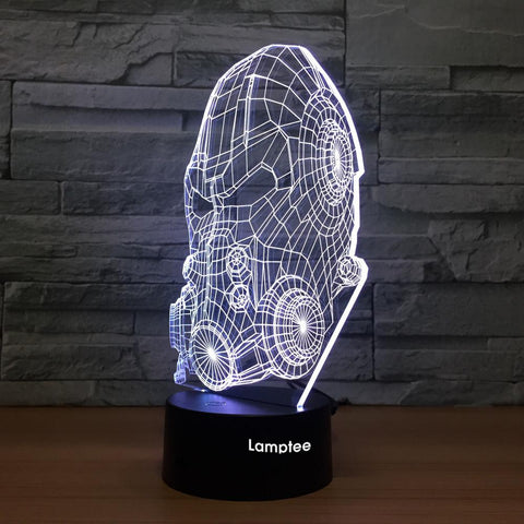 Abstract Warrior 3D Illusion Lamp Night Light 3DL1238