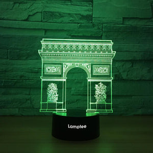 Building Triumphal Arch 3D Illusion Lamp Night Light 3DL1242