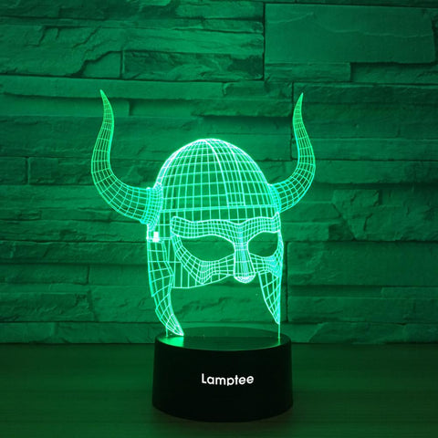Art Warrior Helmet 3D Illusion Lamp Night Light 3DL1243