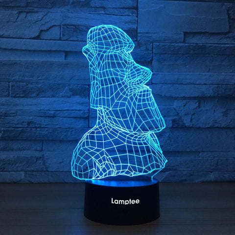 Image of Art Sculpture 3D Illusion Lamp Night Light 3DL1249