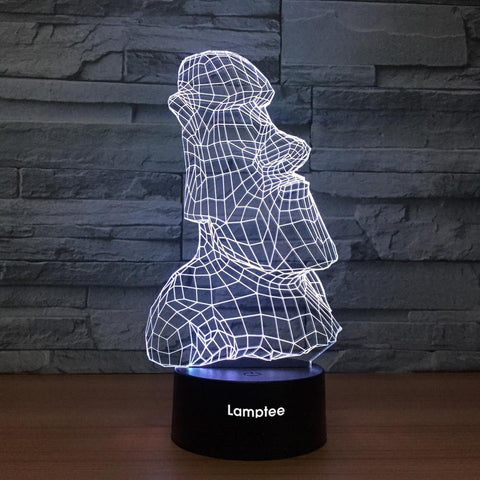 Art Sculpture 3D Illusion Lamp Night Light 3DL1249