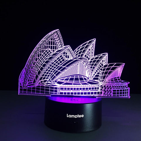 Building Sydney Opera House 3D Illusion Lamp Night Light 3DL129