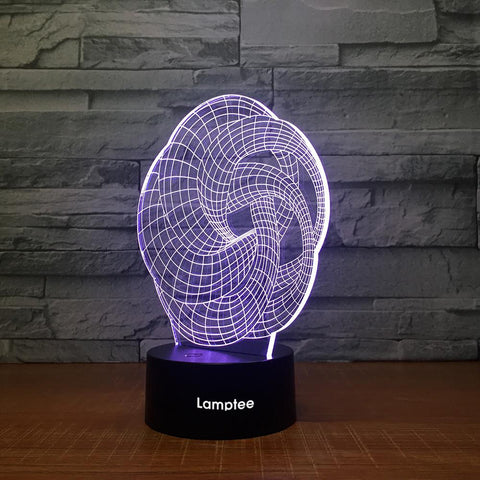 Abstract Stereo 3D Illusion Lamp Night Light 3DL1443