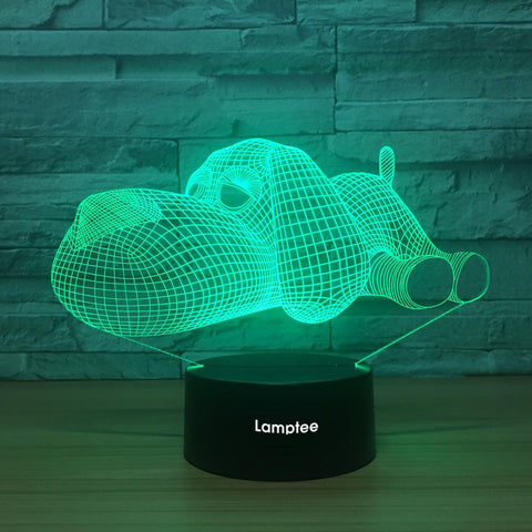 Image of Animal adorable Dog 3D Illusion Lamp Night Light 3DL1452