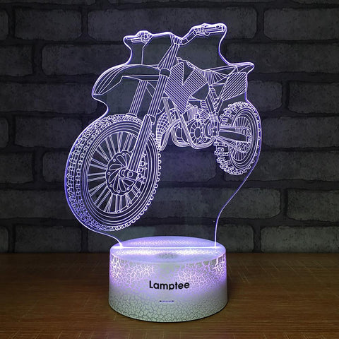Crack Lighting Base Traffic Mountain Motorbike 3D Illusion Lamp Night Light 3DL1480