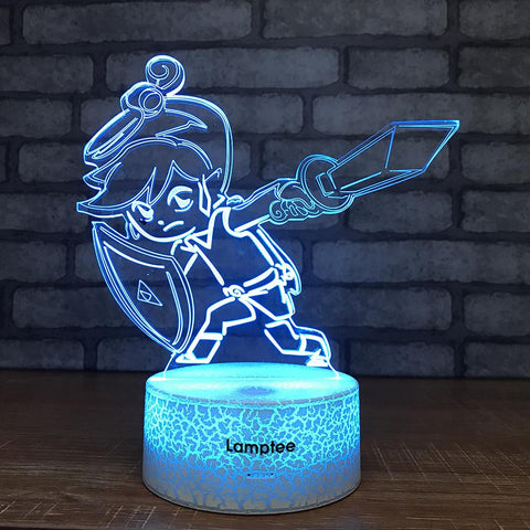 Crack Lighting Base Anime Cartoon Character 3D Illusion Lamp Night Light 3DL1498