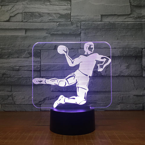 Sport Handball Game 3D Illusion Lamp Night Light 3DL1506