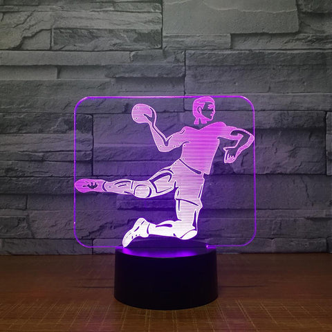 Image of Sport Handball Game 3D Illusion Lamp Night Light 3DL1506