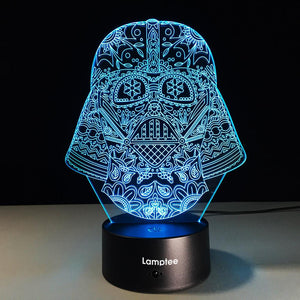 Art Scary Skull 3D Illusion Lamp Night Light 3DL200