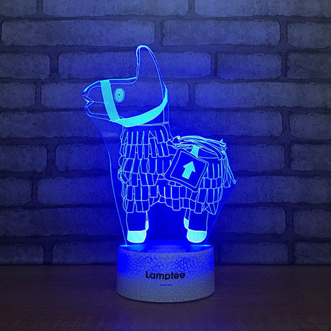 Crack Lighting Base Anime Fortnite Horse 3D Illusion Lamp Night Light 3DL2264