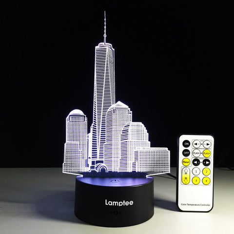 City Building 3D Illusion Lamp Night Light 3DL246