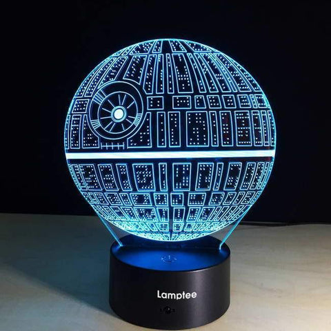 Star Wars Death Star 3D Illusion Lamp Night Light 3DL2710