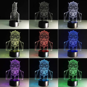 Star Wars Jedi Knight 3D Illusion Lamp Night Light 3DL2711