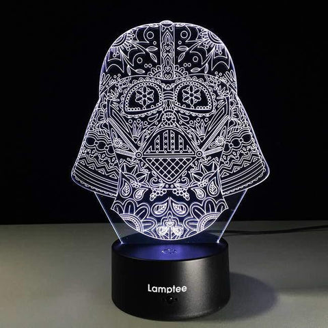 Star Wars Mask 3D Illusion Lamp Night Light 3DL2712