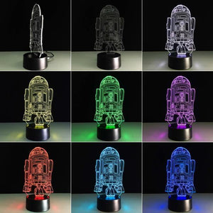 Star Wars R2D2 V2 3D Illusion Lamp Night Light 3DL2714