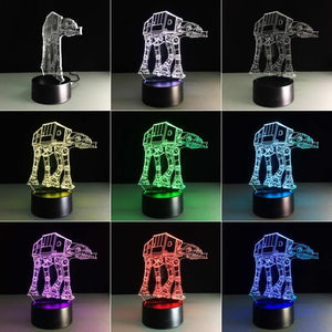 Star Wars Robot 3D Illusion Lamp Night Light 3DL2715