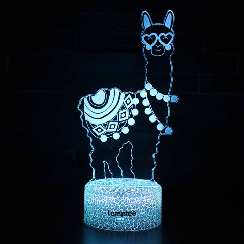 Anime Fortnite Alpaca2 3D Illusion Lamp Night Light NL2801