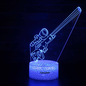 Anime Fortnite Suppressed Sniper Rifle 3D Illusion Lamp Night Light NL2815