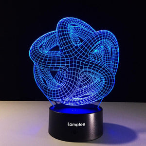 Abstract Spiral 3D Illusion Lamp Night Light 3DL303