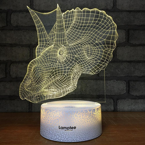 Crack Lighting Base Animal Dragon 3D Illusion Lamp Night Light 3DL382