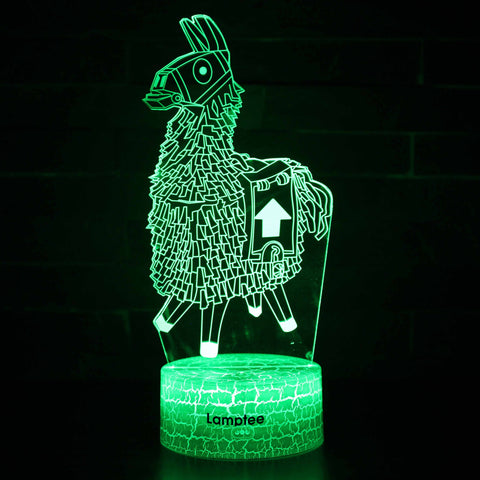 Anime Fortnite Alpaca 3D Illusion Lamp Night Light NL2800