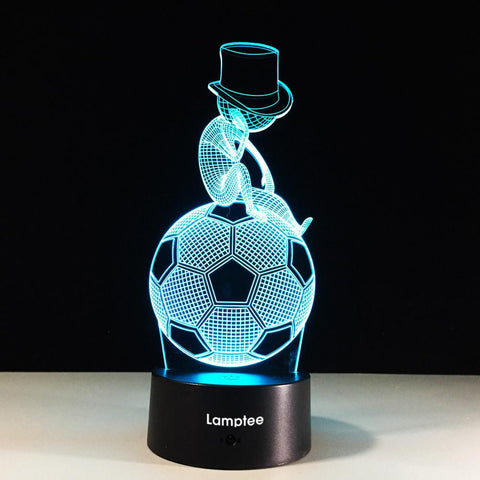 Sport Creative Sporting Style Football Thinking Art 3D Illusion Lamp Night Light 3DL556