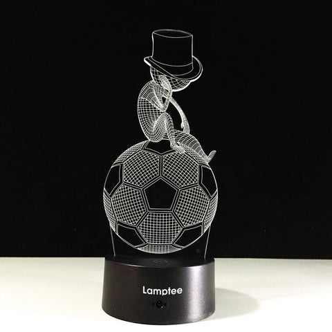 Image of Sport Creative Sporting Style Football Thinking Art 3D Illusion Lamp Night Light 3DL556