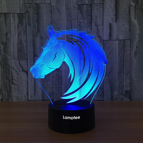 Image of Animal Horse Visual 3D Illusion Lamp Night Light 3DL635