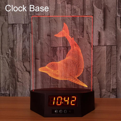Crack Lighting Base Animal Birds In Cage 3D Illusion Lamp Night Light 3DL202