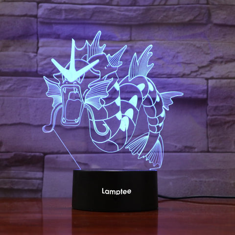 Image of Anime Pokemon Gyarados 3D Illusion Lamp Night Light 3DL830