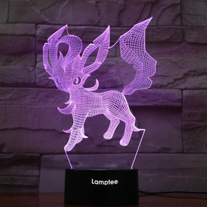 Anime Pokemon Leafeon 3D Illusion Lamp Night Light 3DL836