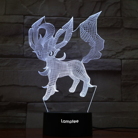 Image of Anime Pokemon Leafeon 3D Illusion Lamp Night Light 3DL836