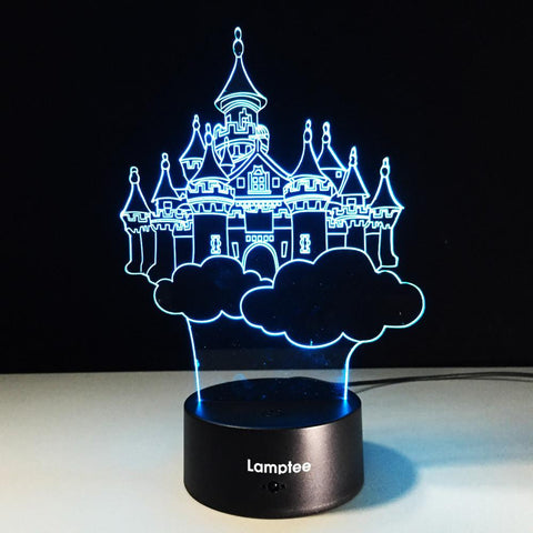 Building Dream Castle Shaped 3D Illusion Lamp Night Light 3DL031