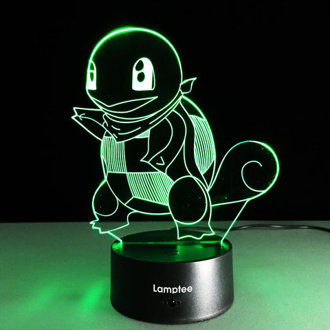 Image of Anime Pokemon Jenny Turtle 3D Illusion Lamp Night Light 3DL226