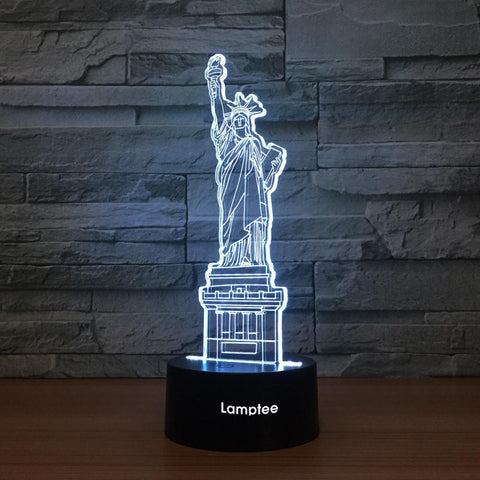 Building Statue Of Liberty 3D Illusion Lamp Night Light 3DL1380