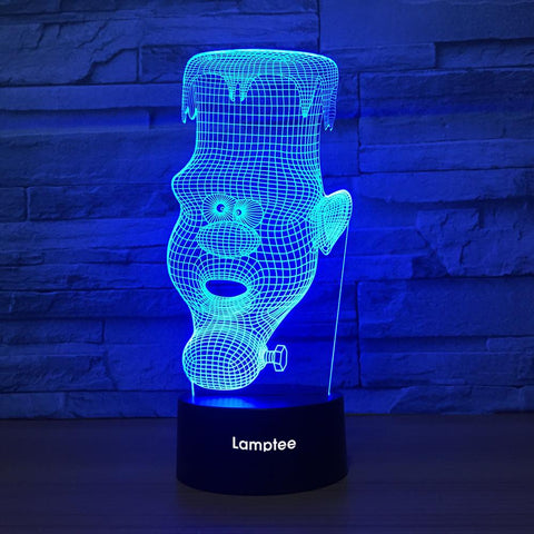 Abstract Statue 3D Illusion Lamp Night Light 3DL1315
