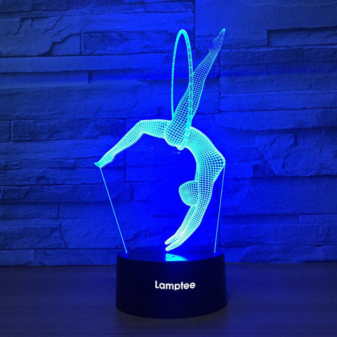 Image of Artistic Gymnastics 3D Illusion Lamp Night Light 3DL1396