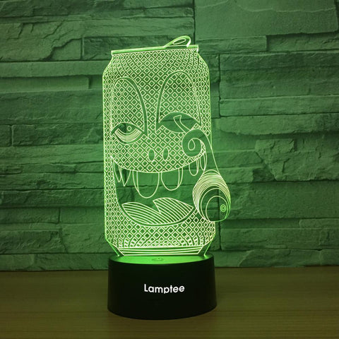 Art Funny Can 3D Illusion Lamp Night Light 3DL1300