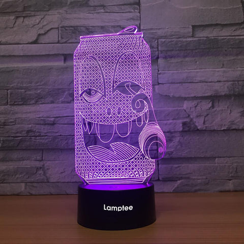 Image of Art Funny Can 3D Illusion Lamp Night Light 3DL1300