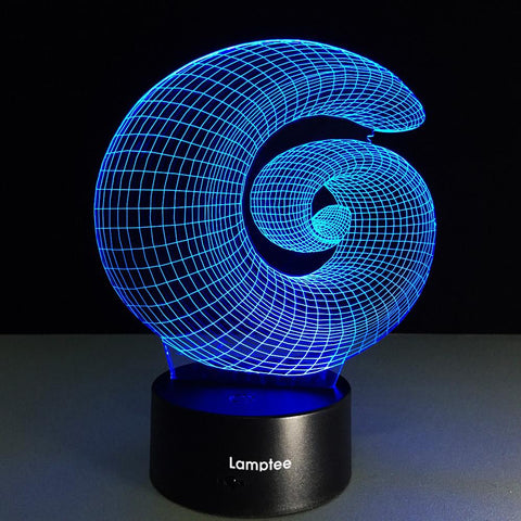 Abstract Geometry Minimalist 3D Illusion Lamp Night Light 3DL051