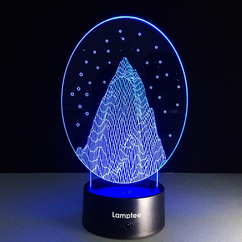 Building Creative Snow Mountain 3D Illusion Lamp Night Light 3DL017