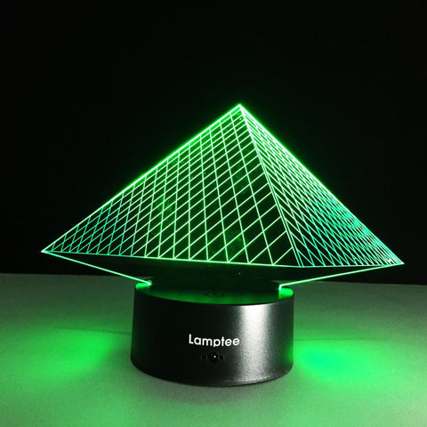 Building Classic Egypt Pyramid 3D Tridimensional Geometry 3D Illusion Lamp Night Light 3DL141