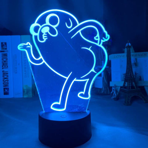 Adventure Time Jake The Dog Bend 3D Illusion Lamp Night Light